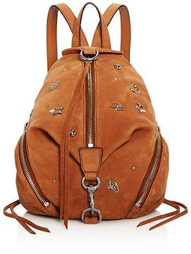 Rebecca Minkoff Medium Julian Nubuck Backpack - 100% Exclusive - ALMOND/SILVER - STYLE