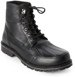 Andrew Marc Black Otis Lace-Up Boots