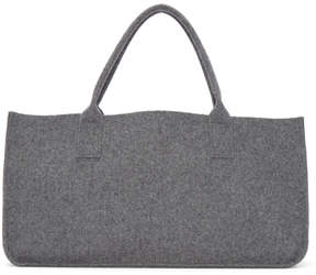 Comme des Garcons Grey Wool Melton Rectangular Tote