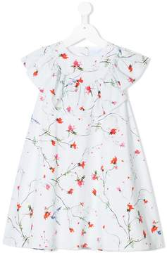 Lanvin Enfant floral-print ruffled dress