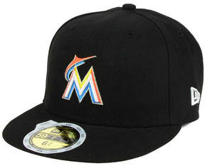 New Era Kids' Miami Marlins Authentic Collection 59FIFTY Cap