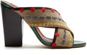 Missoni Cross-strap block-heel mules