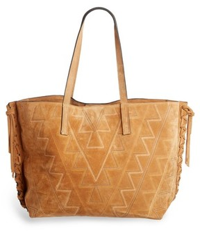 Isabel Marant Zoe Topstitched Suede Tote - Brown