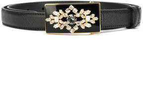Prada embellished buckle belt