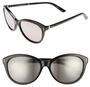 Calvin Klein Women's 57Mm Cat Eye Sunglasses - Black