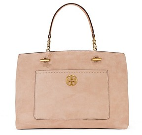 Tory Burch Chelsea Suede Satchel - STUCCO - STYLE