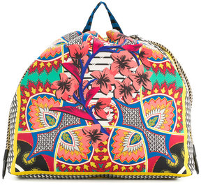 Etro patterned drawstring backpack