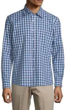 Hyden Yoo Plaid Slim-Fit Cotton Button-Down Shirt