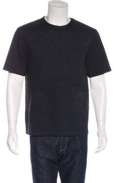 3.1 Phillip Lim Embroidered Zip-Accented T-Shirt