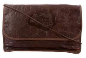 Carlos Falchi Textured Leather Shoulder Bag