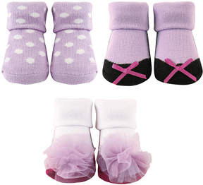 Luvable Friends Lilac Three-Pair Sock Set - Infant
