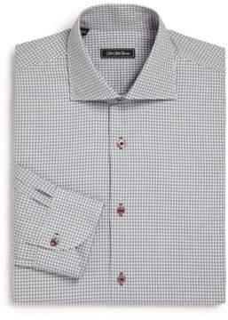 Saks Fifth Avenue COLLECTION Regular-Fit Check Cotton Dress Shirt