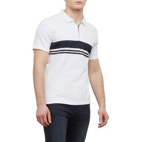 Kenneth Cole New York Reaction Kenneth Cole Short-Sleeve Zip Stripe Polo Shirt - Men's