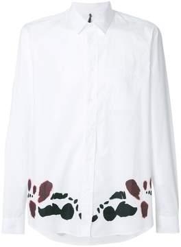 Oamc moth hem print shirt