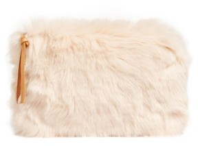 Nordstrom Cuddle Up Faux Fur Pouch - Pink