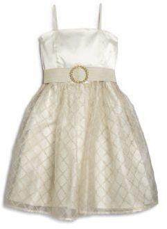Un Deux Trois Girl's Metallic Check Party Dress