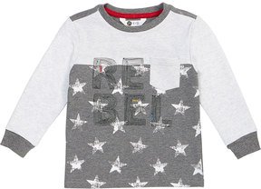 Petit Lem Long-Sleeve Rebel Star-Print Knit T-Shirt, Size 2-6X