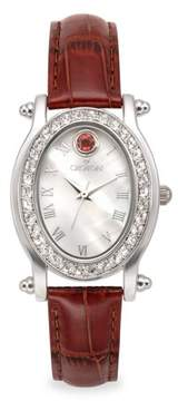 Croton October Birthstone Watch with Mother of Pearl Dial