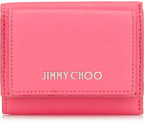 Jimmy Choo NAIMA Flamingo Soft Grained Goat Leather Small French Wallet