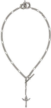 DSQUARED2 Silver Cross Pendant Chain Necklace