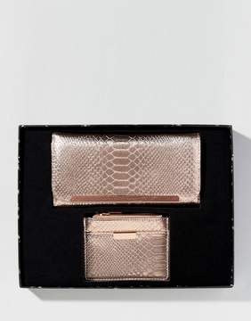 French Connection Gift Set With Rose Gold Purse And Matching Card Holder