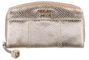 See by Chloe Metallic Leather Wallet