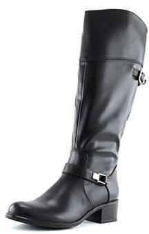 Alfani Womens Fidoe Wide Calf Leather Almond Toe Knee High Fashion Boots.