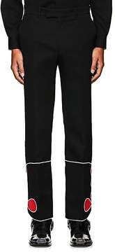 Calvin Klein Men's Mariachi Embroidered Wool Straight Trousers