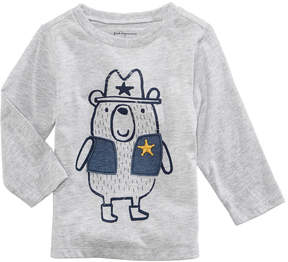 First Impressions Sheriff Bear-Print T-Shirt, Baby Boys (0-24 months), Created for Macy's