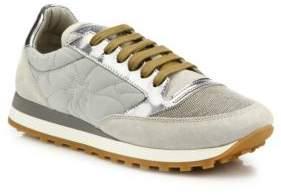 Brunello Cucinelli Monili Cap Toe Mixed Media Sneakers