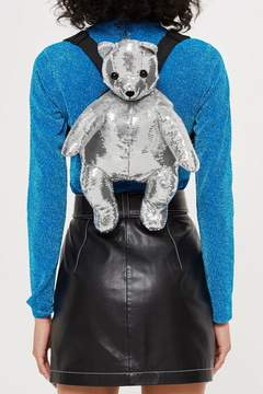 Topshop Sequin Teddy Bear Backpack