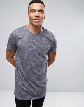 New Look Camo T-Shirt In Gray