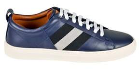 Bally Men's Blue Leather Sneakers.