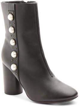 Kensie Lizzy Imitation Pearl Block Heel Bootie