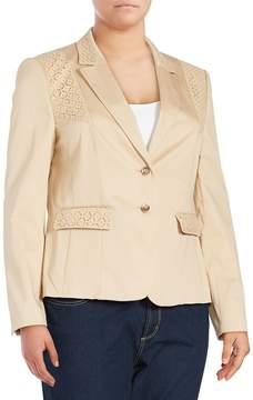 Basler Women's Long-Sleeve Cotton-Blend Jacket