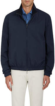 Loro Piana Men's Windmate Cashmere-Lined Bomber Jacket