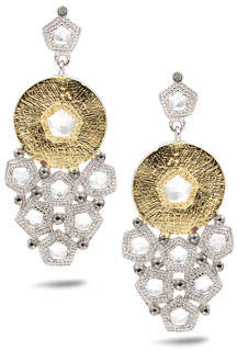 Coomi Opera Trickling Crystal & Diamond Earrings