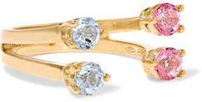 Delfina Delettrez 9-karat Gold Topaz Phalanx Ring