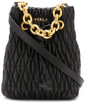 Furla Stasy quilted bucket bag