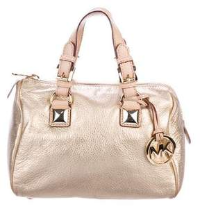 MICHAEL Michael Kors Metallic Leather Handle Bag