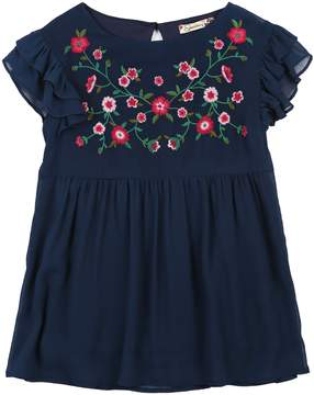 Speechless Girls 7-16 Floral Babydoll Top