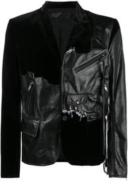 Haider Ackermann transgressive leather and velvet jacket