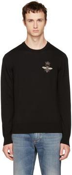 Dolce & Gabbana Black Bee Sweater