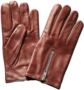 Portolano Men's Brown Cashmere-Lined Nappa Gloves