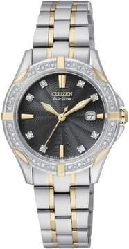 Citizen Women's Two-Tone Eco-Drive Diamond Watch EW1924-52H
