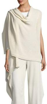 Eileen Fisher Cozy Organic Cotton-Blend Asymmetric Wrap, Plus Size