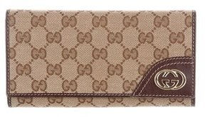 Gucci GG Canvas Continental Wallet - BROWN - STYLE