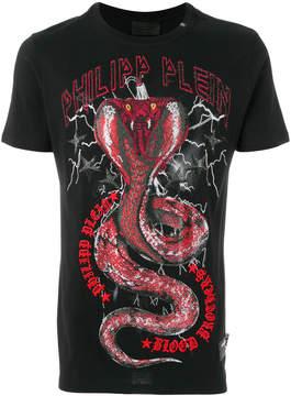 Philipp Plein Snake print T-shirt