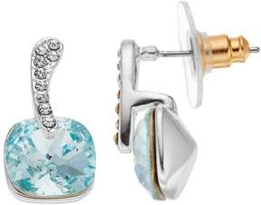 Brilliance+ Brilliance Silver Plated Cushion Drop Earrings with Swarovski Crystals