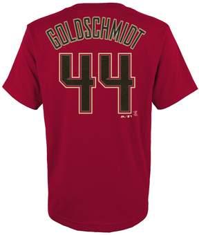 Majestic Boys 4-18 Arizona Diamondbacks Paul Goldschmidt Player Name and Number Tee